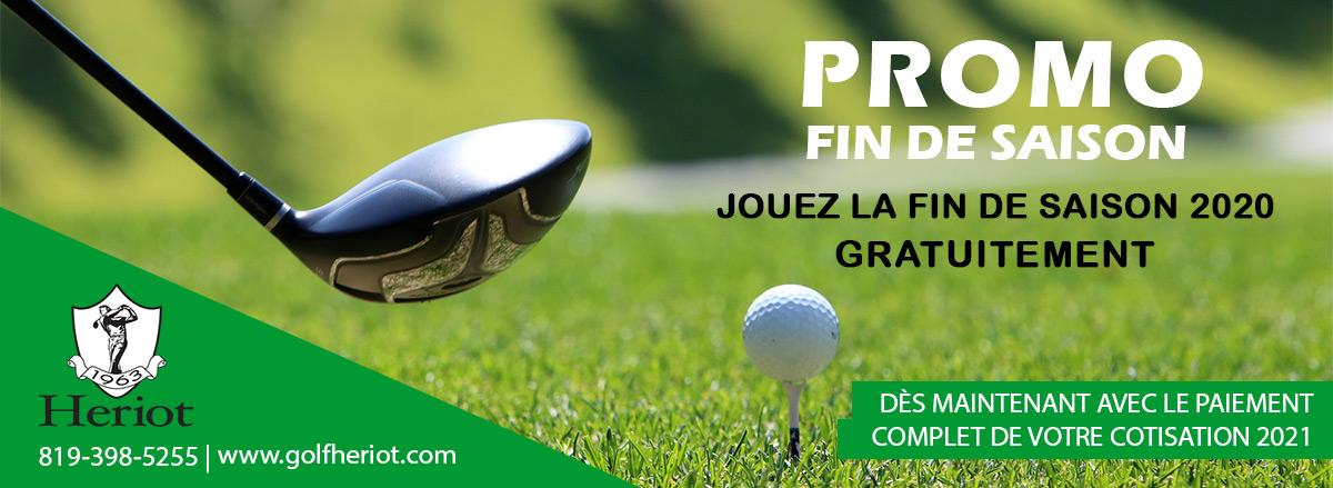 Promotion golf fin de saison